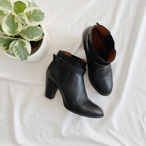 Madewell Black Lonny Leather Booties